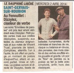 Le Dauphiné libéré parle de Dizzylez et Vincent Truel