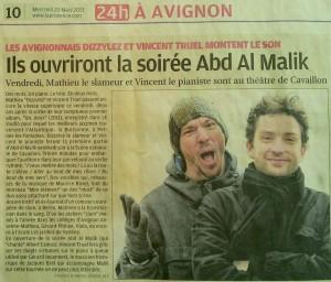 Article dans la provence mars 2013
