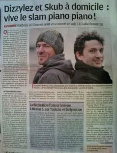 Article dans la Provence sur Dizzylez et Vincent Truel